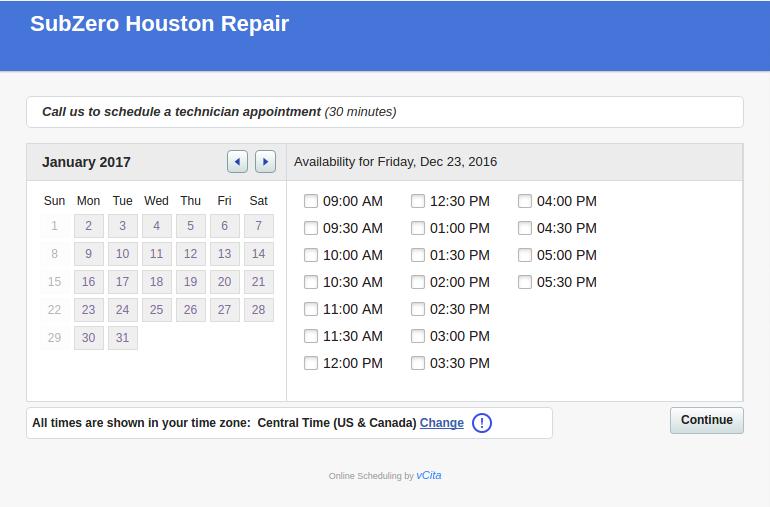 Schedule On-line